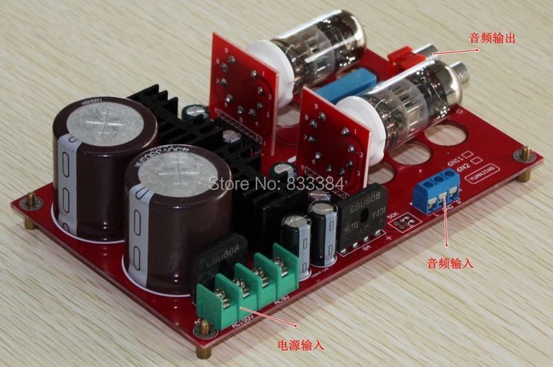 Free shipping Pre - AMP Peramplifier included 2pcs Tube 6N11 fancy creative 1 6 40