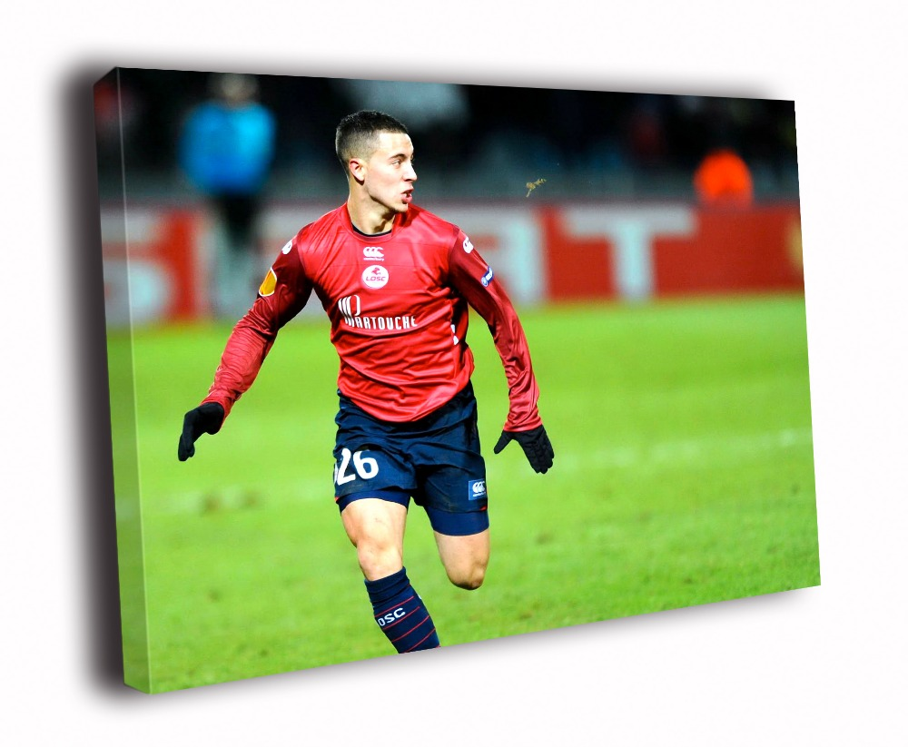 HD Canvas Printings Painting Eden Hazard Lille Soccer ...