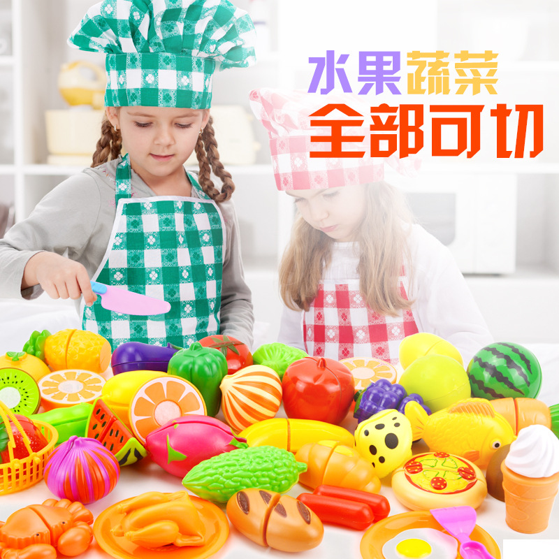 2018 Explosion models Childrens kitchen play toys, toys, cut fruit toys for childrens gifts