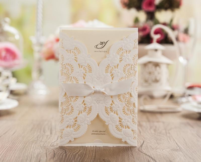 Aliexpress Buy Laser Cut Wedding Invitations Blank White – Blank Wedding Invitation Card Stock