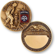 High quality U.S. ARMY 82nd AIRBORNE DIVISION ALL AMERICAN COIN MEDAL  custom souvenir medallion FH810138
