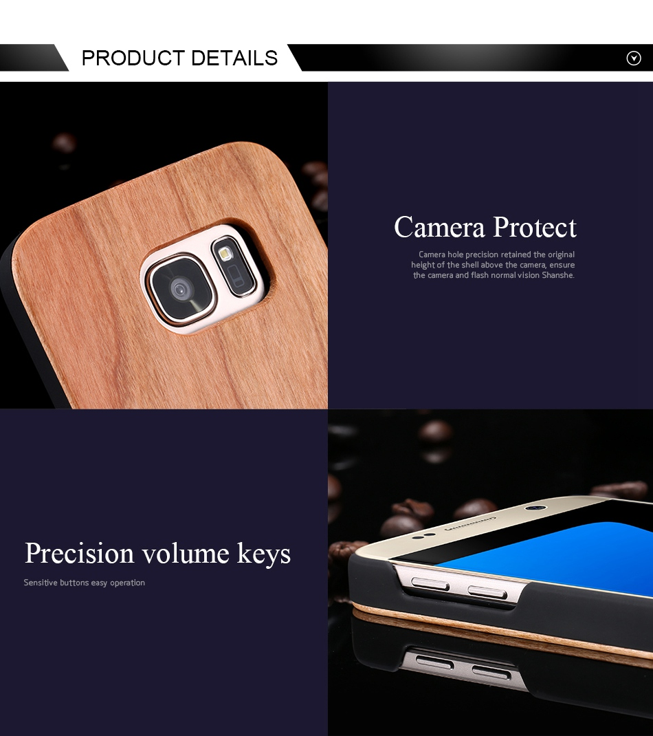 For Samsung Galaxy S8 Plus Real Wooden Case For Samsung S8 Galaxy S7 S6 Edge Back Cover (6)