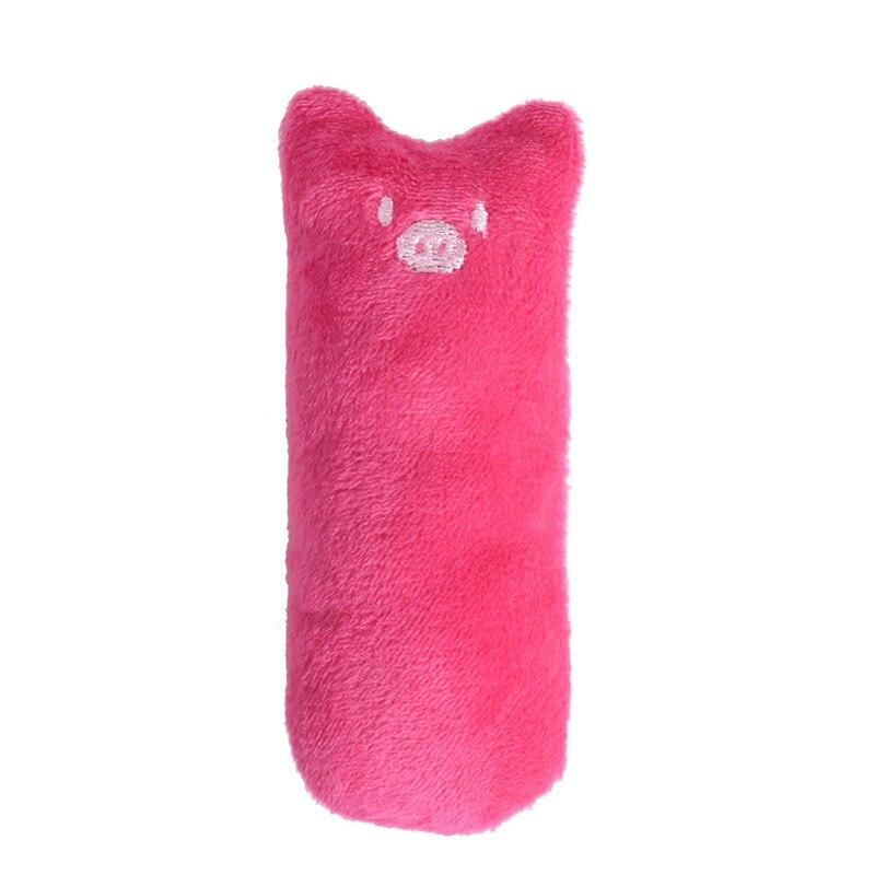 Модные мини-игрушки для шлифовки зубов, кошачья мята, забавный интерактивный плюшевый Кот, игрушка для питомца, котенок, жевательные вокальные когти, Когти для кошек - Цвет: Rose Red