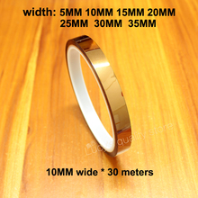 Get more info on the 30m Gold Finger High Temperature Tape Polyimide Brown Industrial Insulation
