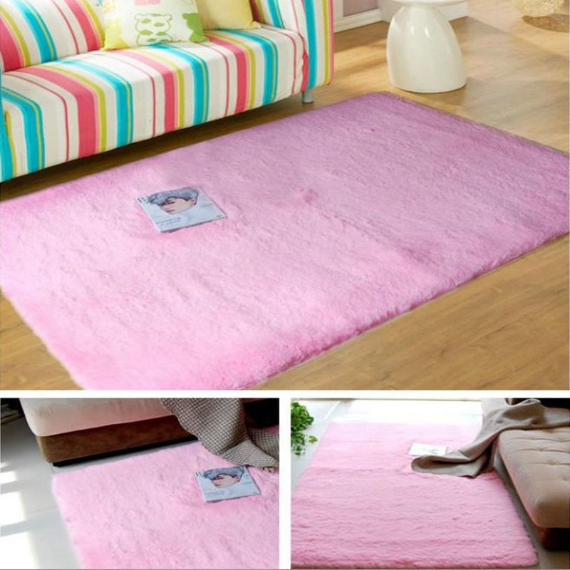 Hot 120x200cm Plush Soft Carpet Floor Rug Kids Rugs 2cm Fur Gy