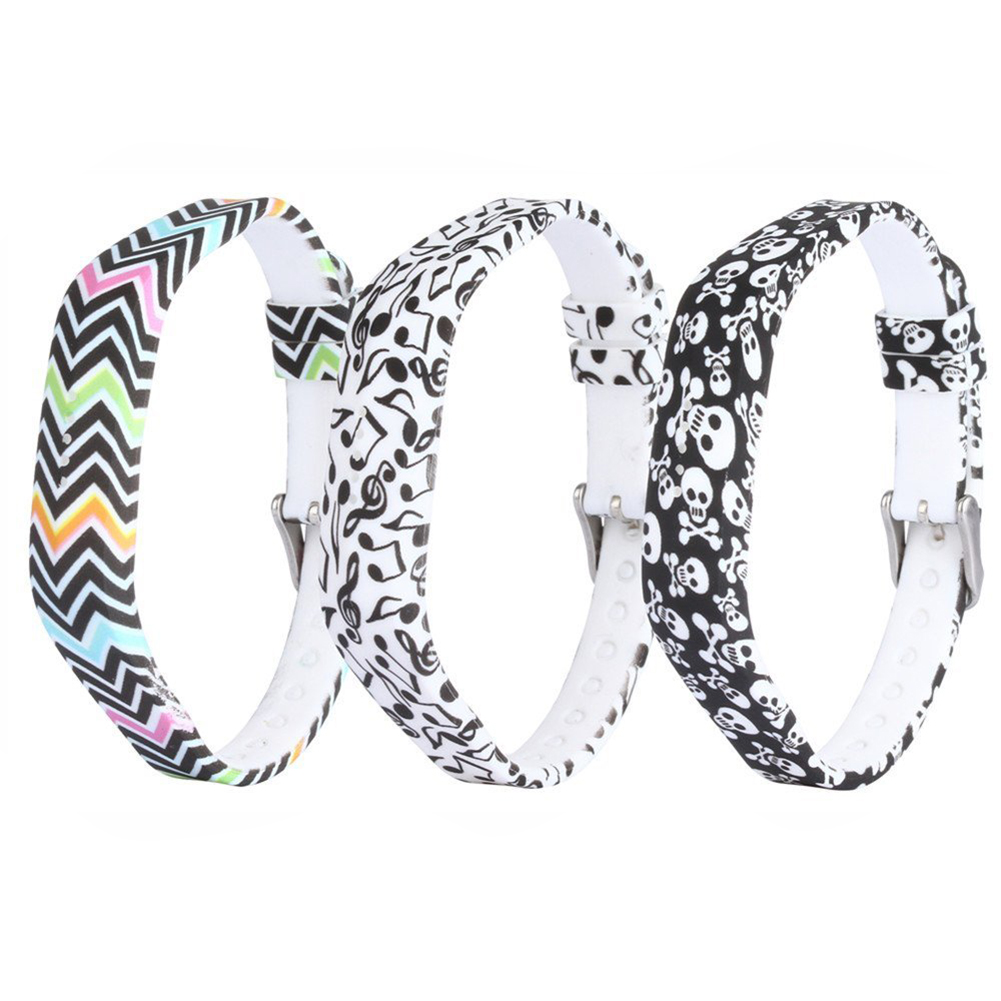 for Fitbit Flex 2 Silicone Replacement Accessories Wristband with Steel Buckle Color ripple