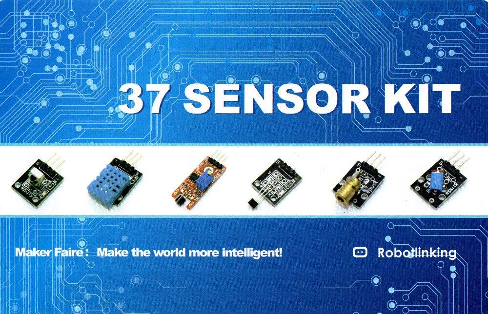 KITS de sensores 37 en 1 para ARDUINO envío gratuito de alta calidad (funciona con tablas oficiales para Arduino)