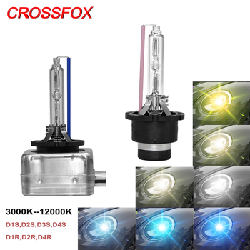 CROSSFOX D1S D2S D3S D4S HID Xenon Light D1R D2R D4R Car Headlight D1 D2 D3 D4 HID Lamp Bulbs 3000K 4300K 6000K 8000K 10000K 12V image