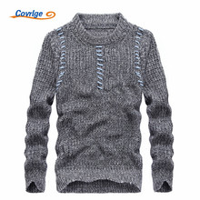 Covrlge 2017 Autumn Winter Men's Sweaters Solid Color O-neck Pullover Fashion Sweater Free Shipping Mens Clothing M-3XL MZM010