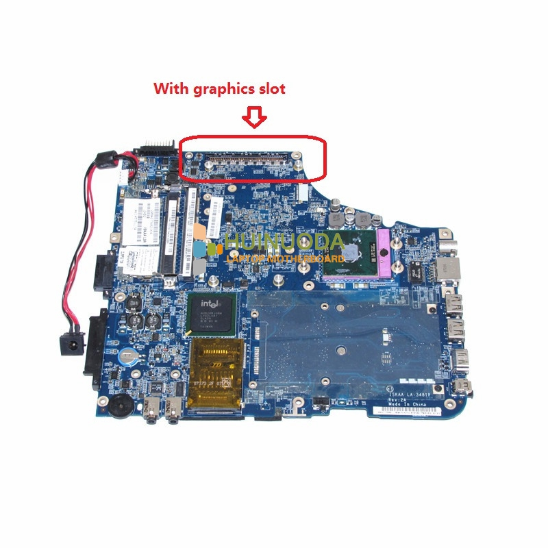 ISKAA LA-3481P K000057510 For toshiba satellite A200 A205 laptop motherboard 965PM with graphics slot DDR2