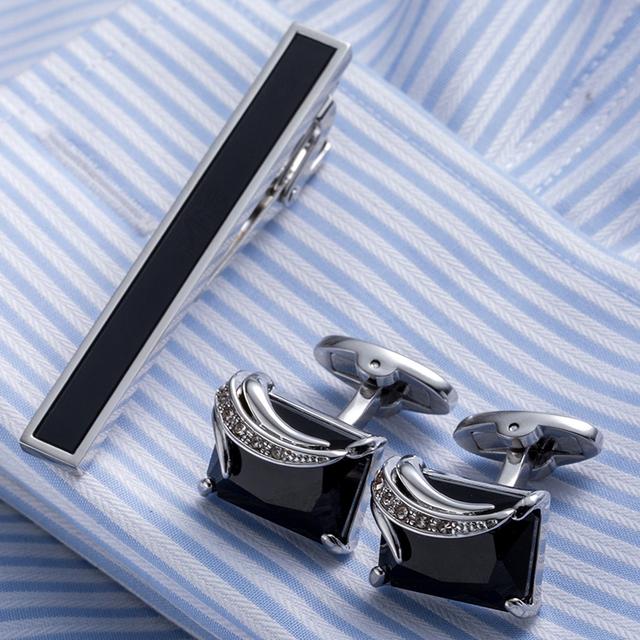 Vagula Necktie Tie Bar Cufflinks Clip High Cuff Links Pin Jewelry 21