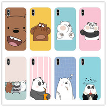 Cute cartoon we naked bear TPU Soft Silicone Phone Case Cover for iPhone 8 7 6 6S Plus X XS MAX 5 11 11PRO SE XR 10