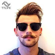 TTLIFE Fashion Semi Rimless Polarized Sunglasses Men Women Brand Designer Half Frame Sun Glasses Classic Oculos De Sol YJHH0169 цена и фото