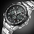 Men's Watch Top Brand Luxury Men Sports Quartz Watches LED Digital Full Steel Male Army Military waterproof Relogio Masculino
