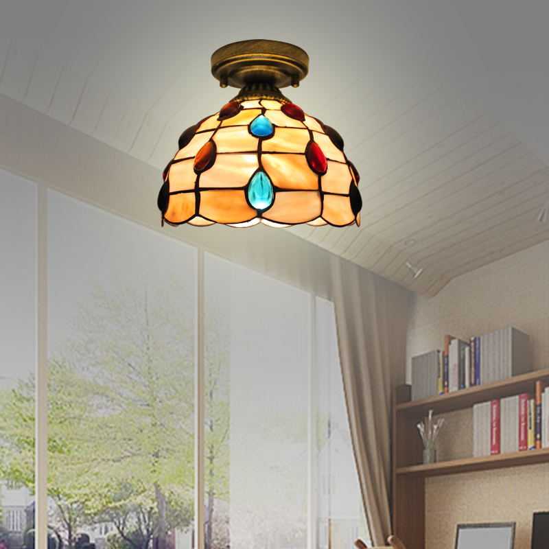 Simple European style shell bedroom ceiling lamp aisle porch corridor lamp  Simple European style shell bedroom ceiling lamp aisle porch corridor lamp