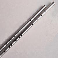 SevenAngel Titanium Metal Flute Imitation Bamboo Dizi Joint Transverse Flauta Profissional Music Instrument Self defense Weapon