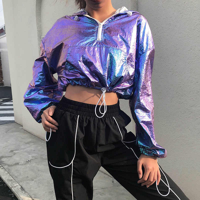 ... women rave outfit holographic bodysuit neon outfit dance crop top women  jazz dance street dance clothing c4cd94025586