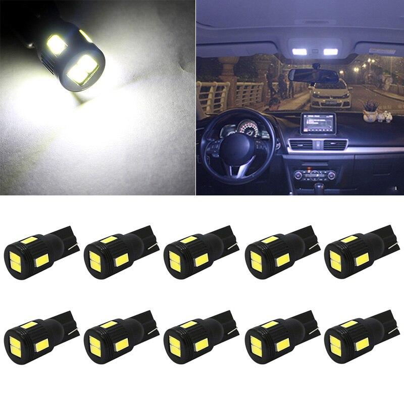 10x T10 W5W 5630 SMD Car LED Interior Reading Light for Skoda Octavia A5 A7 2 Fabia Rapid Superb 2 Yeti Felicia Kodiaq Citigo RS