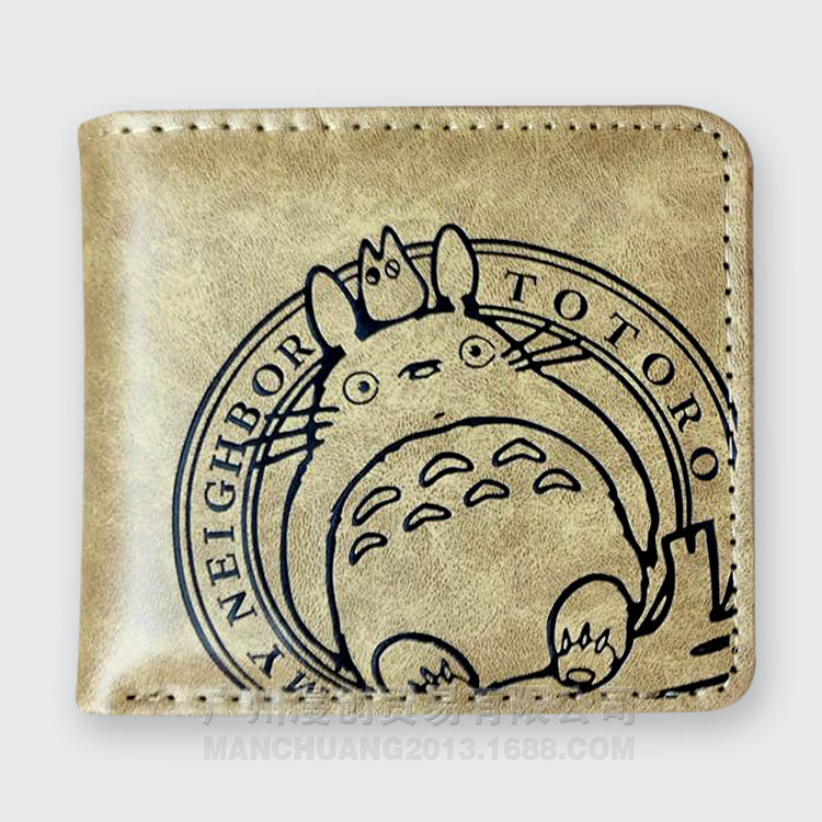 Anime Cartoon My Neighbor Totoro Wallets PU Leather Slim Purse Young Boys Girls Student Short Wallet цены