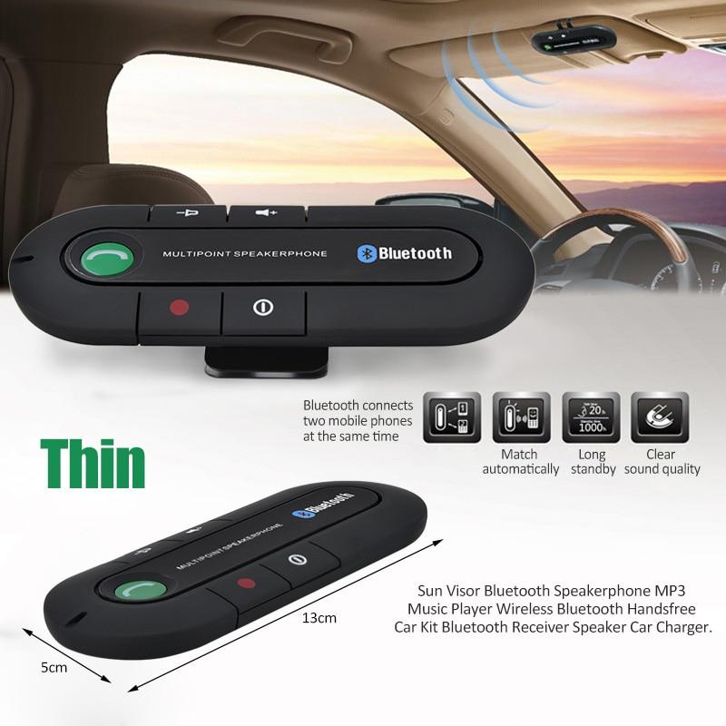 Bluetooth Car Kit Speakerphone Handsfree Wireless Speaker Phone Mic for Mobile Phone BT850 universal bluetooth v3 0 wireless handsfree speaker phone speaker