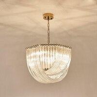 Роскошь свет личность стекло изгиб кристалла Ресторан постмодерн люстра Американский вилла страна дизайнер гостиная лампы