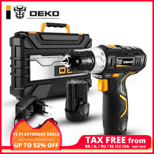 DEKO GCD12DU3 Cordless Drill 2-Speed Mini Wireless Power Driver 12 V Max Electric