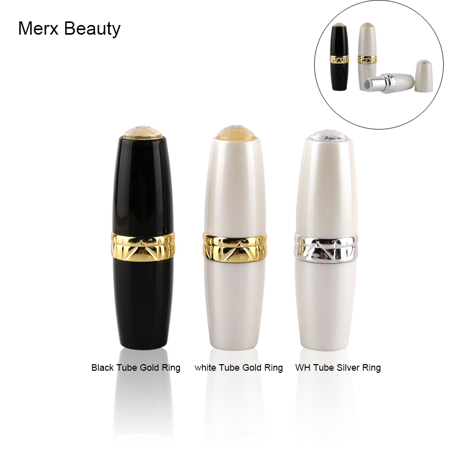 5/50PCS 12.1MM Black/white round lipstick case, empty plastic lip balm tube with 3 color options, DIY cosmetic packing container sleek makeup губная помада lip v i p lipstick 3 6 гр 9 оттенков губная помада lip v i p lipstick 3 6 гр attitude тон 1012 3 6 гр