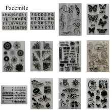 Facemile Silicone Transparent Rubber Stamp Set Letters Animal For DIY Scrapbooking Card Making Decoration Supplies
