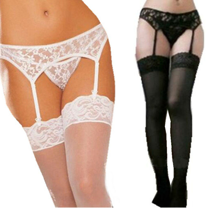 Szexi női fehérnemű Hot Sexy csipke Porn Babydoll Erotikus fehérnemű szexi fehérnemű jelmezek G-string + harisnya