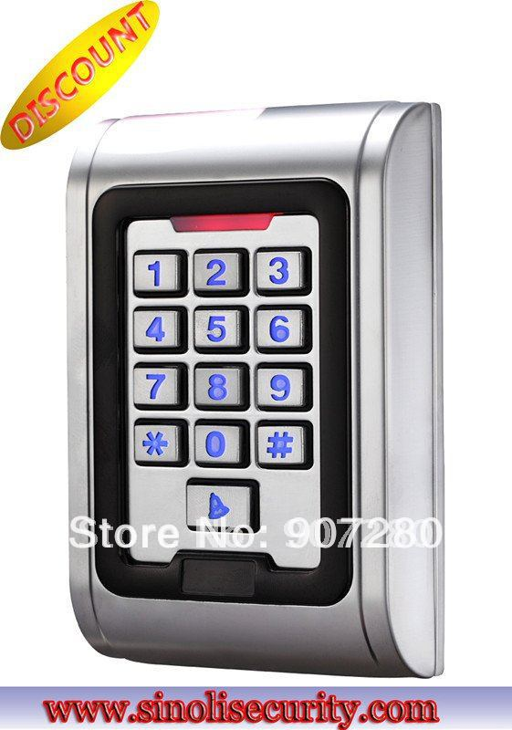Wholesale Waterproof Metal Shell Access Control Keypad/EM card support metal rfid em card reader ip68 waterproof metal standalone door lock access control system with keypad 2000 card users capacity