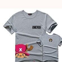 Nuevo Anime de One Piece Tony Tony Chopper T Camisa Delgada de Algodón de Manga Corta Unisex Amante Casual Camiseta Cosplay Traje Del O-cuello
