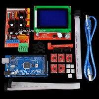 Mega 2560 R3 Mega2560 Board + RAMPS 1.4 + LCD 12864 Controller + A4988 Stepper Motor Driver For Arduino RepRap 3D Printer Kit