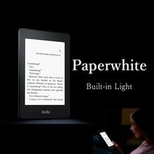 Kindle paperwhite una luz incorporada wifi lector de libros electrónicos ebook de tinta electrónica táctil retroiluminada 2 GB cubierta de libros de tinta electrónica de regalo