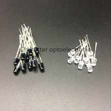 50 pairs/100 pcs LED 940nm 3mm LEDs Diodos Diodo Emissor Receptor Infravermelho 940 nm IR Emissor Infravermelho Emettitore Ricevitore