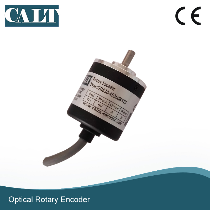 CALT Optical incremental Encoder miniature GHS30 4mm shaft within 200pulses A B Z channel CALT Optical incremental Encoder miniature GHS30 4mm shaft within 200pulses A B Z channel