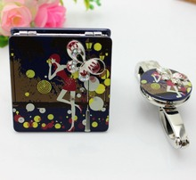 Fashion Women Gifts Travel Gift Wedding Gift Set Mirror Handbag Hook Purse Free Shipping