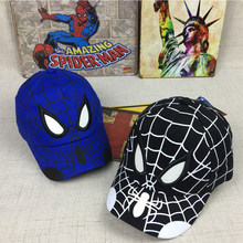 2019 New Cartoon Spiderman Cosplay Cap Children Embroidery Cotton Baseball Hat Kid Boy Girl Hip Hop Fashion Outdoor Hat(China)