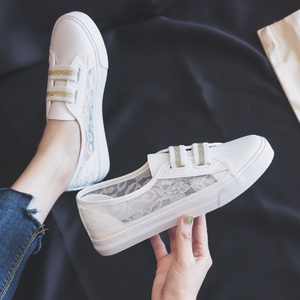 Image 3 - أحذية امرأة 2019 صيف جديد أحذية أنيقة امرأة عادية تنفس الدانتيل الجلود بسيطة النساء حذاء كاجوال أحذية رياضية تنفس