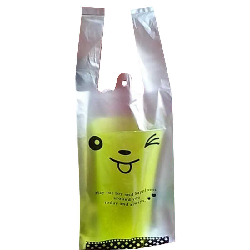Portable coffee tea milk single  cup plastic carry bag drink cafe shop juice disposable cups plastic bags 500pcs free shipping