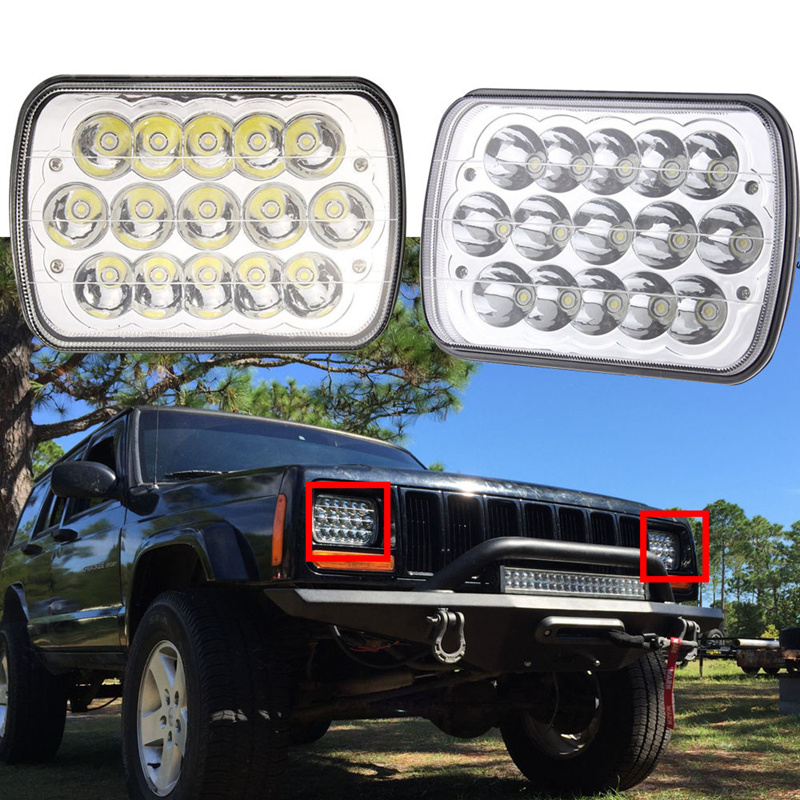 5 inch x 7 inch Led Headlight with High Low Beam Sealed 5 x7 Replace Light