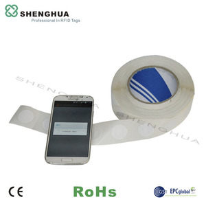 10pcs/pack Rewritable Blank RFID 13.56mhz NFC Sticker 213 Chip HF Label Tag Round For Mobile Phone Access Control Management