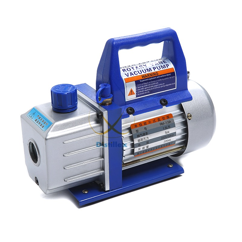 1.5L/s Rotary Vane Single Stage Mini Vacuum Pump tw 4a single stage 4 l rotary vane type portable vacuum pump with a single stage