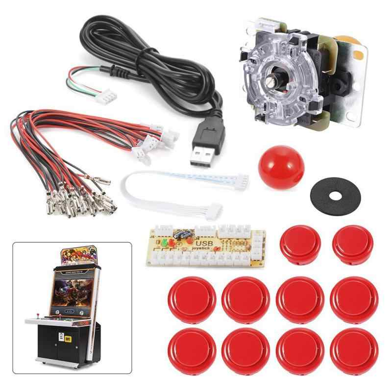 For Zero Delay Arcade Game Controller USB Joystick Kit chip Board Push  Button Set For MAME Raspberry Pi