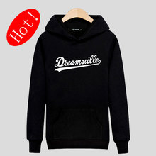 Berühmte Dreamville Schwarz/Grau Baumwolle Hoodies Männer xxxl Mens Hoodies und Sweatshirts mit Streetwear-stil Sweatshirt Männer marke
