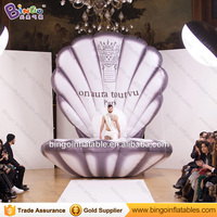 High Quality 4 Meters Dia Giant Inflatable Shell Customized Digital Print Blow Up Shell For Display