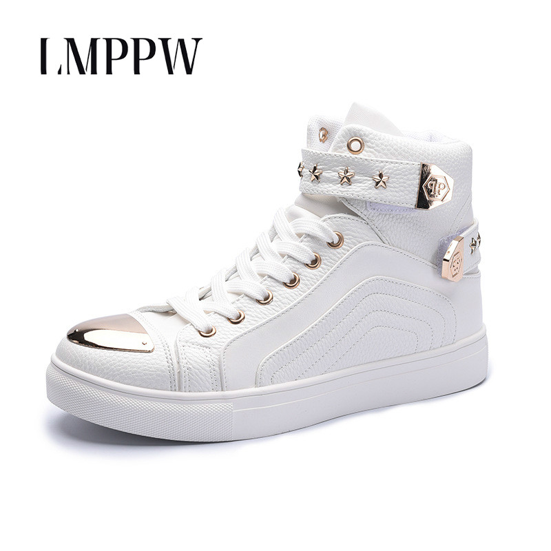 Fashion Style Men Shoes High Top Outdoor Casual Boots Breathable Lac-up Leather Men Shoes Top Quality Men Brand Shoes Footwear 8 men ankle boots women casual shoes breathable fashion cushioning soles high top lovers outdoor shoes size 35 44 b2299