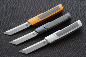 Image 2 - High quality VESPA D2 blade Ripper knife, Handle:7075Aluminum+CF,survival outdoor EDC hunt Tactical tool dinner kitchen knife