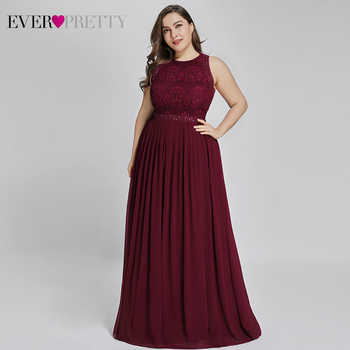 Long Burgundy Prom Dresses 2019 Ever Pretty Elegant Beading A Line Pleated Chiffon Lace Formal Party Gowns Vestidos De Fiesta - DISCOUNT ITEM  40% OFF All Category