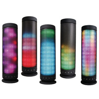 Bluetooth Speaker Portable LED lightsPower Recharged 360 Degree USB DC 5V Surround Stereo Sound Wireless Sound bass speaker