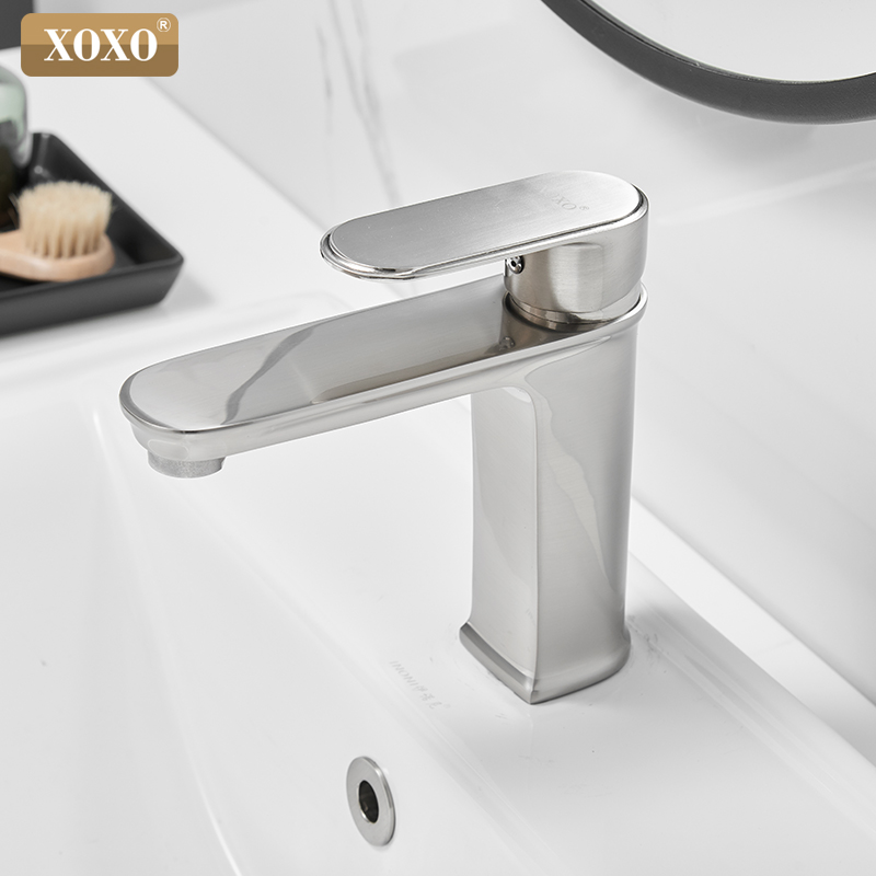 XOXO Basin Faucets Hot and Cold Water Basin Mixer Tap Black Finish Brass Single Holder Sink Water Crane Bathroom Faucet 23015XOXO Basin Faucets Hot and Cold Water Basin Mixer Tap Black Finish Brass Single Holder Sink Water Crane Bathroom Faucet 23015